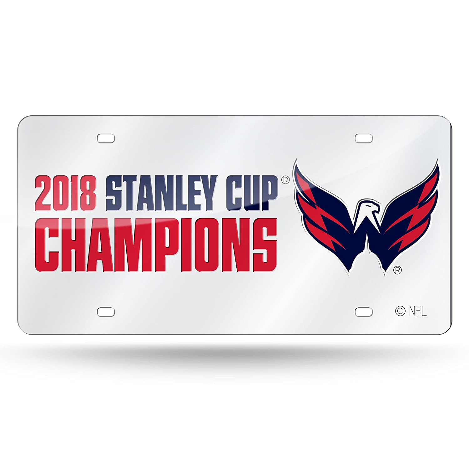 Rico Washington Capitals Official NHL 2018 National Champions License Plate Mirror by 390561