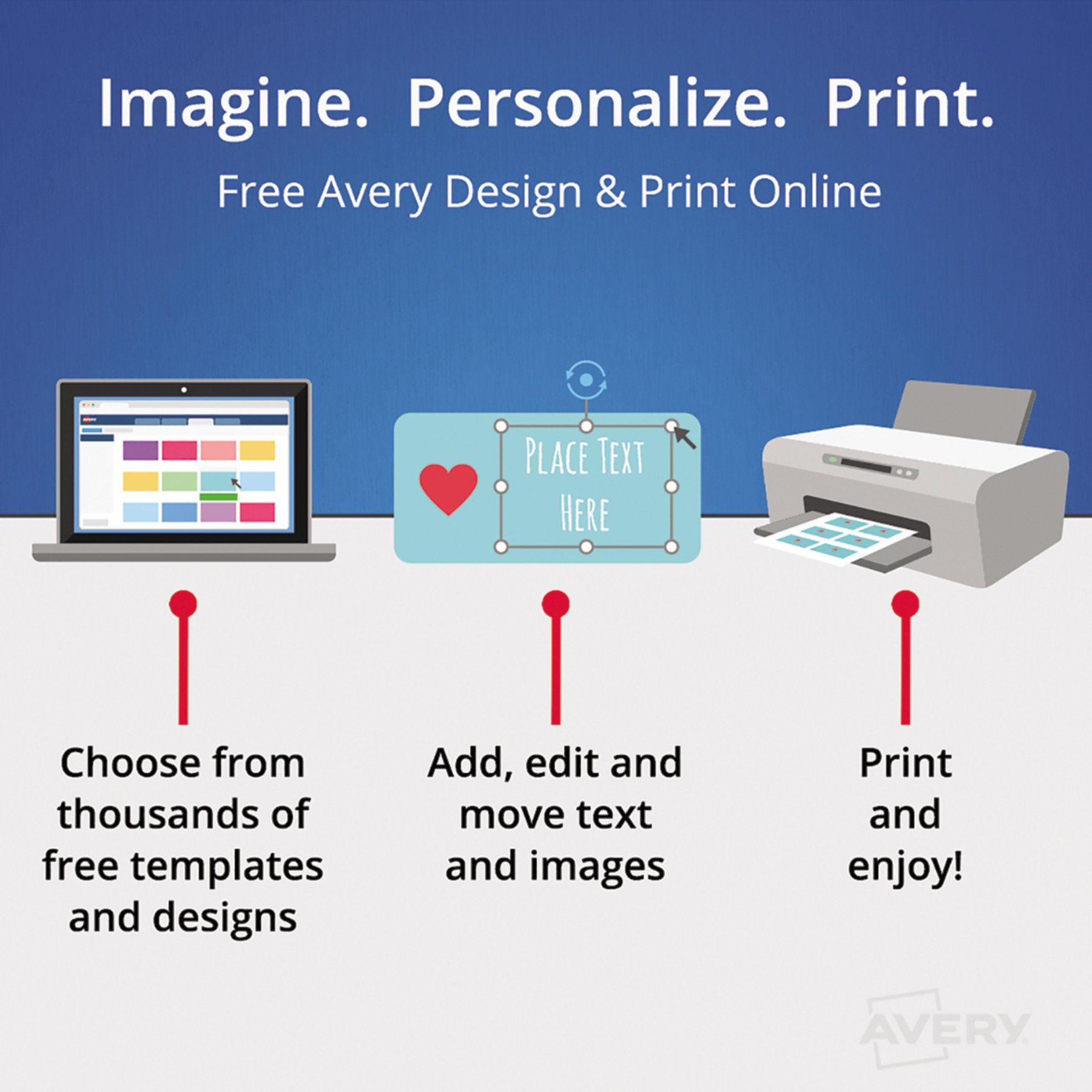 Avery Index Dividers, Print & Apply Clear Label, Index Maker Easy Apply Strip, 5 Printable Tabs, 5 Sets (11580) by Avery (Image #3)