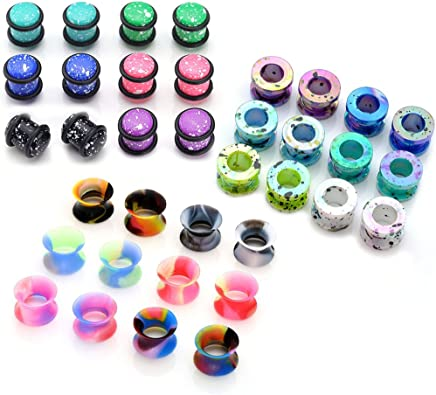 Candy Dangle Hider Plugs 6g,4g,2g,0g,00g,12,916,58,34,78,1 Pretty Ear Gauges