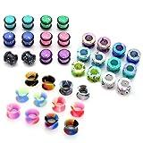 PiercingJ 36pcs Candy Colors Spots Acrylic Ear