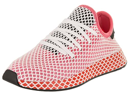 e283013e2 adidas Women s Deerupt Runner Originals chalk Pink chalk Pink Bold Orange  Running Shoe 6.5 Women US  Amazon.co.uk  Shoes   Bags