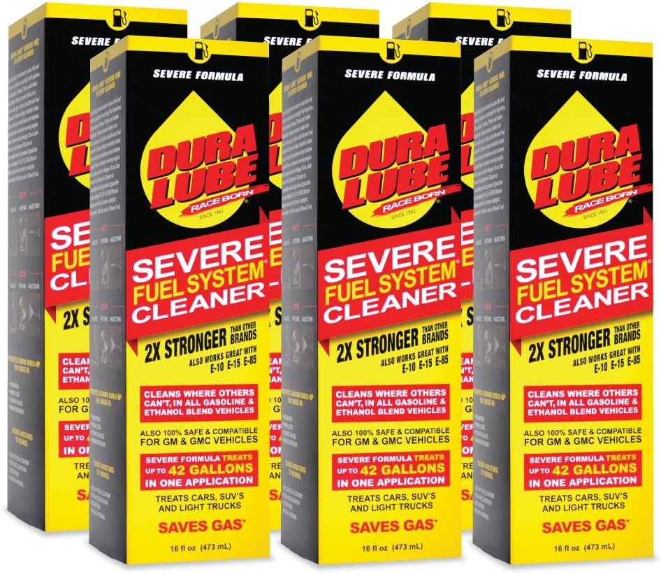 DURA LUBE HL-40199-06 Severe Fuel System Cleaner, 16-Ounce, Single: Automotive