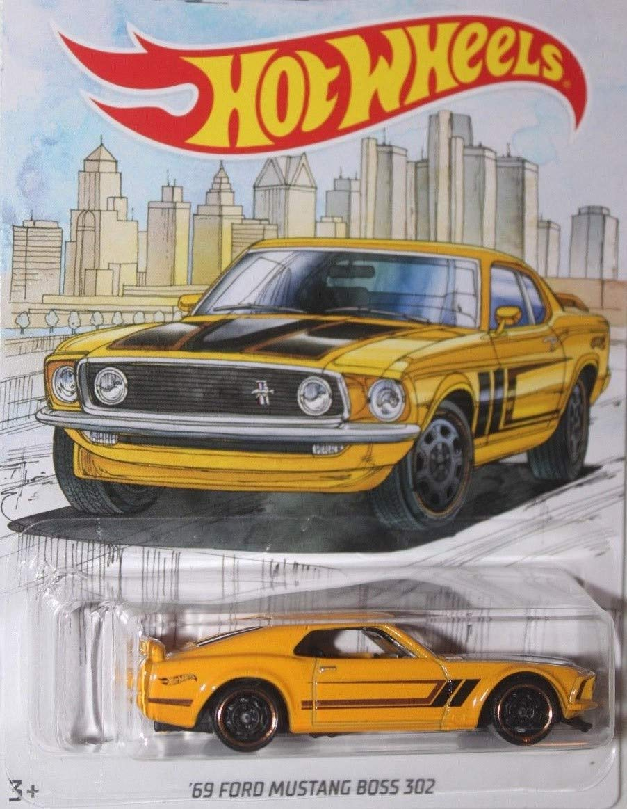Amazon com detroit muscle hot wheels walmart exclusive yellow 69 ford mustang boss 302 die cast wal mart exclusive 1969 ford mustang boss 302 toys