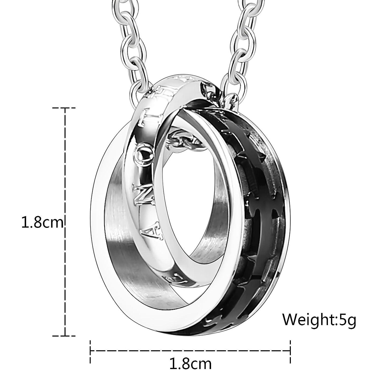 Amazon com: Beydodo Stainless Steel Necklaces His Mens