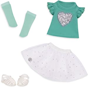 """Glitter Girls by Battat - Sparkling with Style Glittery Top & Skirt Regular Outfit - 14"""" Doll Clothes & Accessories Toys"""