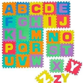 4ad84ac58d1 LittleTom TÜV Probado Alfombras Puzzle para Bebés Suelo Goma EVA  Abecedario  Amazon.es  Juguetes y juegos