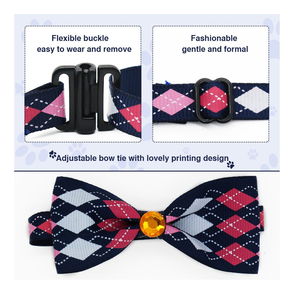 SW Dog Cat Pet Adjustable Bow Tie Collar Puppy Accessories Party Decoration, Blue