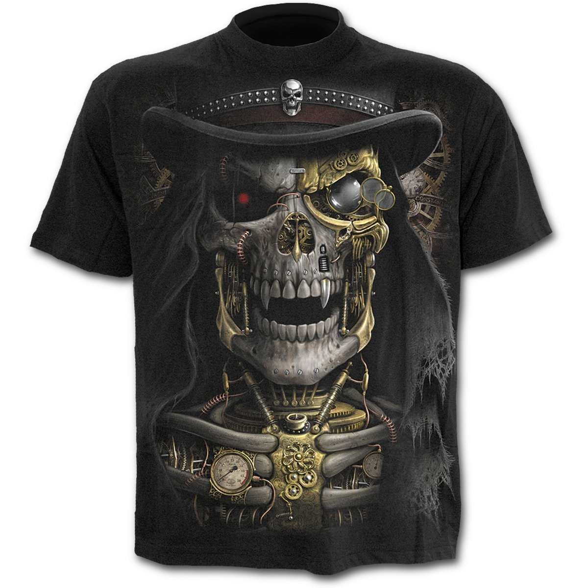 Spiral - STEAM PUNK REAPER - T-Shirt Black Spiral Direct Ltd M011M101