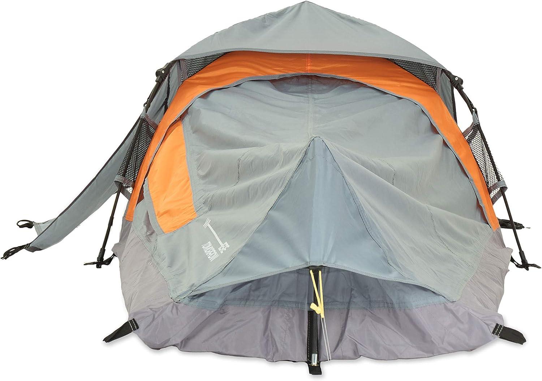 Lumaland Where Tomorrow Tente Solo Pop Up Tente 1 Personne ultral/éger Petit Format Triangle /étanche Robuste Camping Festival 225x100x57 cm