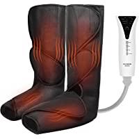 QUINEAR Masajeador de piernas con masaje de compresión de aire de calor para pies y pantorrillas útil para la…