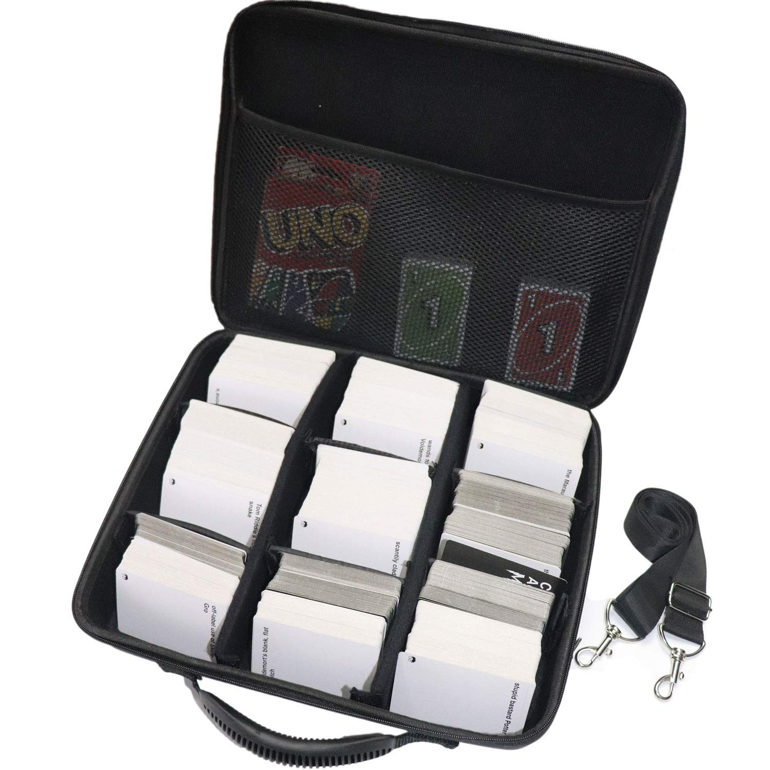 LAZAMYASA Portable Card Game Case for 2,400+ Cards Box. Fits Main Game and All Expansions (Extra Large) by LAZAMYASA
