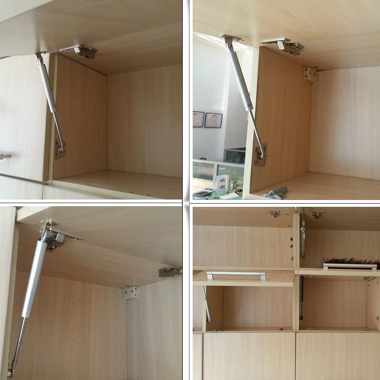 para levantar puertas de armarios de cocina Probrico GSK5SY Bisagra con amortiguador de gas
