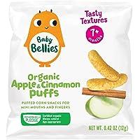 Baby Bellies Organic Puffs Baby Snack, Apple & Cinnamon, Pack of 6 Individual Snack Packs