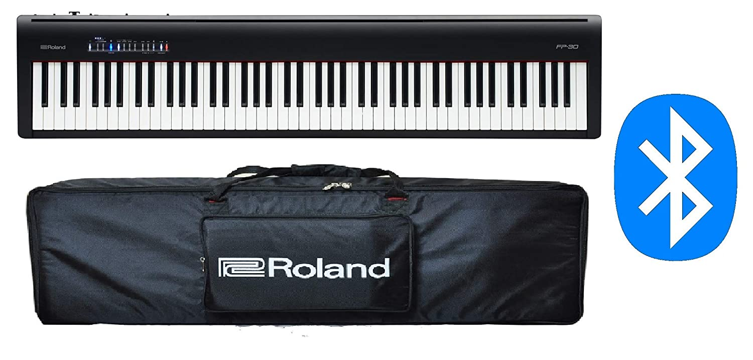 Roland Fp30 Bk 88 Keys Digital Piano With Comfortable Amazon In Electronics
