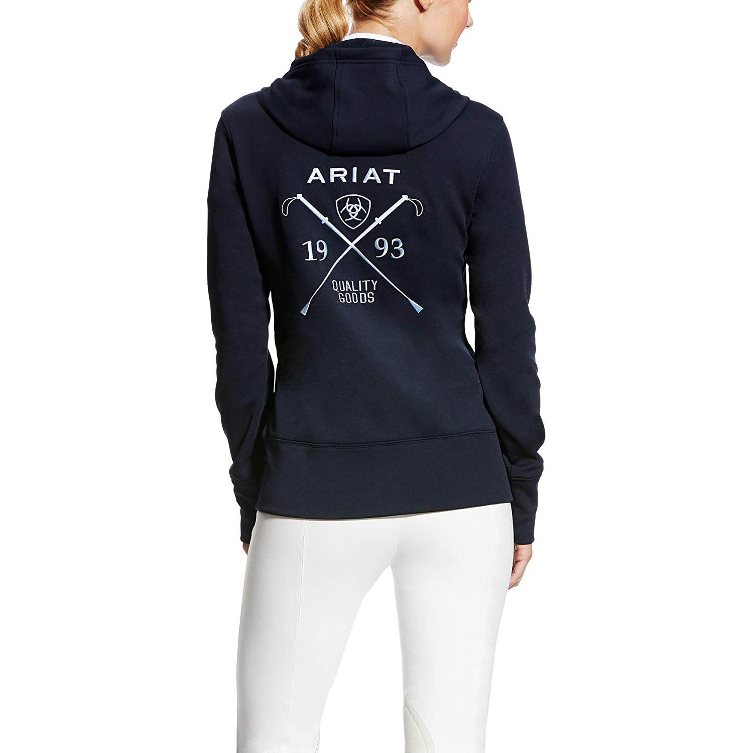 4575644d3a6bb ARIAT Milton Hoodie Navy Size Small at Amazon Women s Clothing store