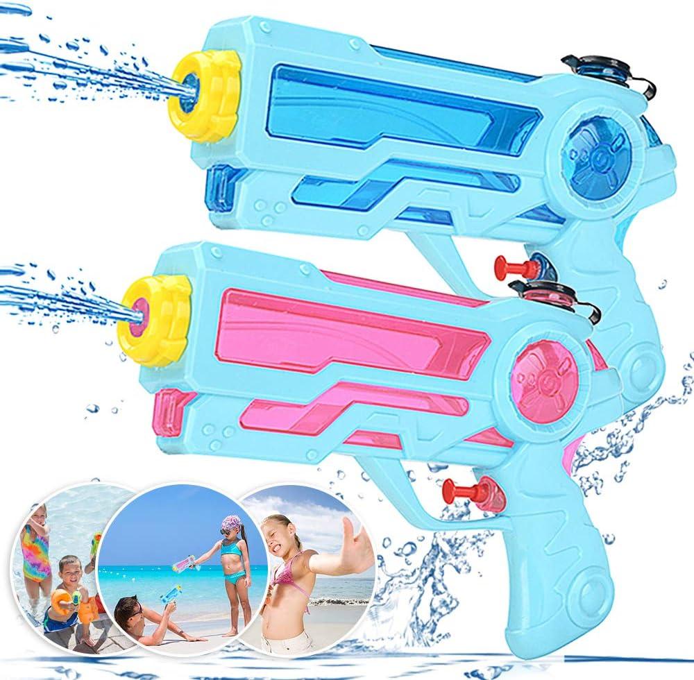 Zaloife Pistola de Agua Juguete de los Niños Water Pistol 350ml para Batalla Jardín Juguete Rociador Fiestas de Verano al Aire Libre Infantil Batalla de Agua, Playa, Piscina, 2 Pack