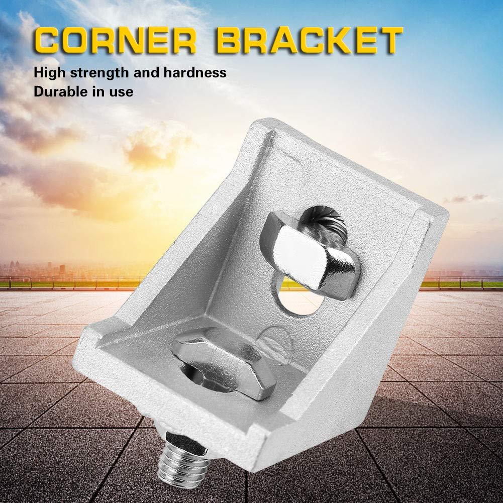 6pcs 4040 Aluminium L Form Eckhalterung rechtwinklig Klammerbefestigung Akozon L geformte Eckhalterung