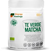 Energy Feelings Té Matcha Verde Orgánico Japonés   Té Matcha Premium Ecológico cultivado en Japón   Matcha Slim en Polvo…