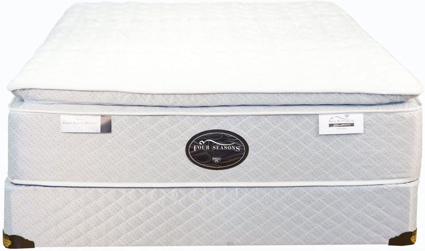 Spring Air King Back Supporter Four Seasons Athena Plush Pillowtop Mattress