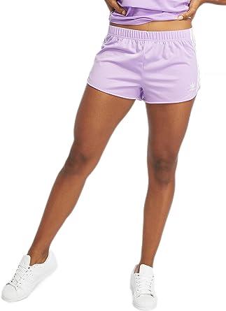 vaso Anestésico Clásico  adidas 3 Stripes W Pantalones cortos de chándal purple glow: Amazon.es: Ropa  y accesorios