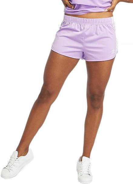 adidas 3 Stripes W Pantalones cortos de chándal purple glow ...