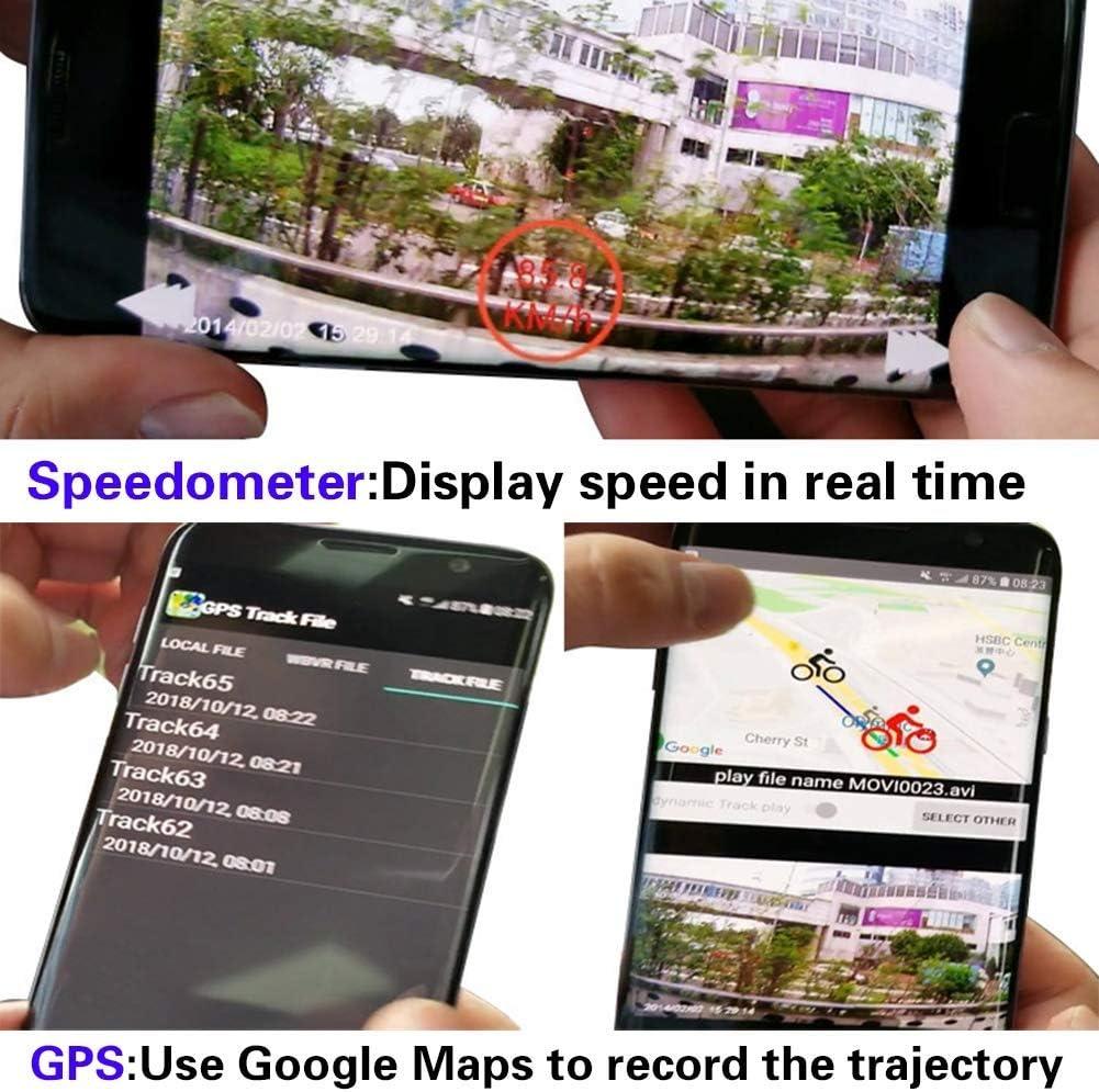Fahrrad Turn Signal Echtzeiterfassung LFYN 1080P Fahrrad-Cam Fahrrad Recorder mit WiFi Handy-Steuerung Fahrradcode-Tabelle