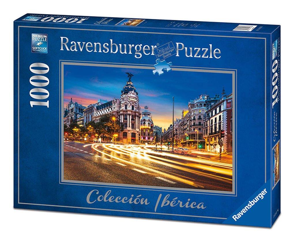 Ravensburger 19618. Puzzle 1000 piezas. Gran Via de Madrid: Amazon.es: Juguetes y juegos