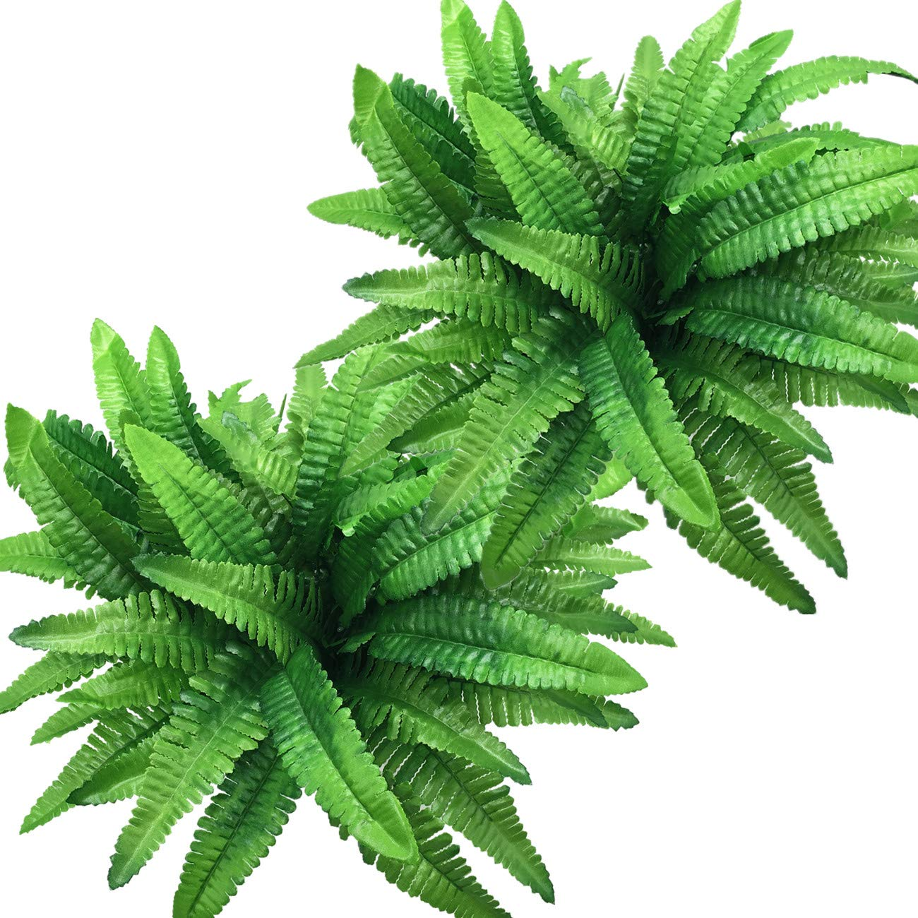 Plastic Fern Leaves Persian Grass Fake Plants Wedding Indoor Outdoor Home Garden Verandah Kitchen Office Table Centerpieces Arrangements Christmas Decoration 2 pcs CATTREE Artificial Shrubs Bushes