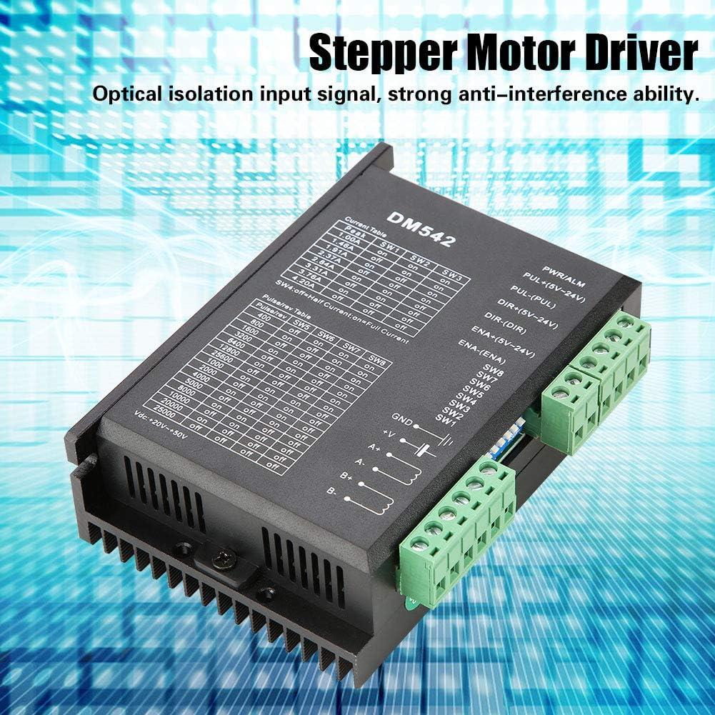 Digitale Schrittmotorsteuerung Einachsiger Hybrid-Schrittmotor f/ür CNC Yosoo Health Gear Schrittmotortreiber