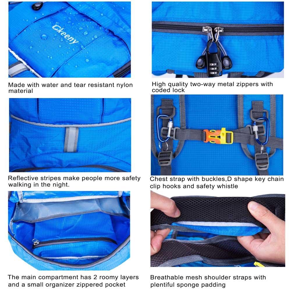 Mochila Gkeeny liviana de 35 l ultraliviana para viaje, senderismo, camping al aire libre, hombre, Gkeeny Foldable Backpack, azul: Amazon.es: Deportes y ...
