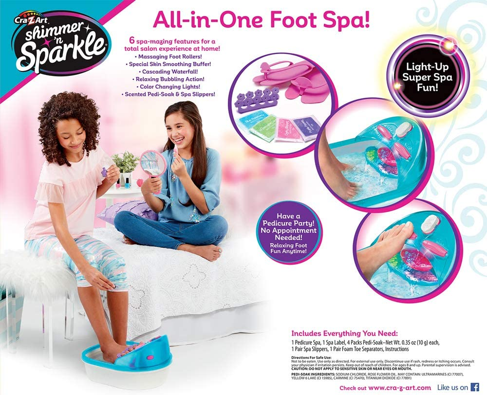 Cra-Z-Art Shimmer 'n Sparkle 6 n 1 Real Massaging Foot Spa, Blue: Toys & Games