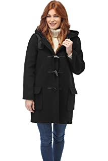 Gloverall Ladies Long Panelled Duffle Coat, Manteau Femme