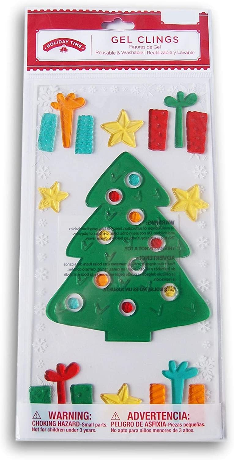 New Holiday Time Window Gel Clings Holiday Decorations Winter Snow Party Time Window Decorations Home Garden