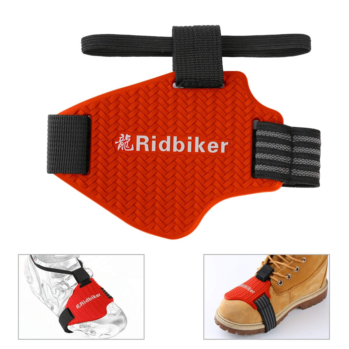 Ridbiker Motorcycle Motorbike Shift Pad Shoe Boot Cover Protective Gear Blue Ⅲ