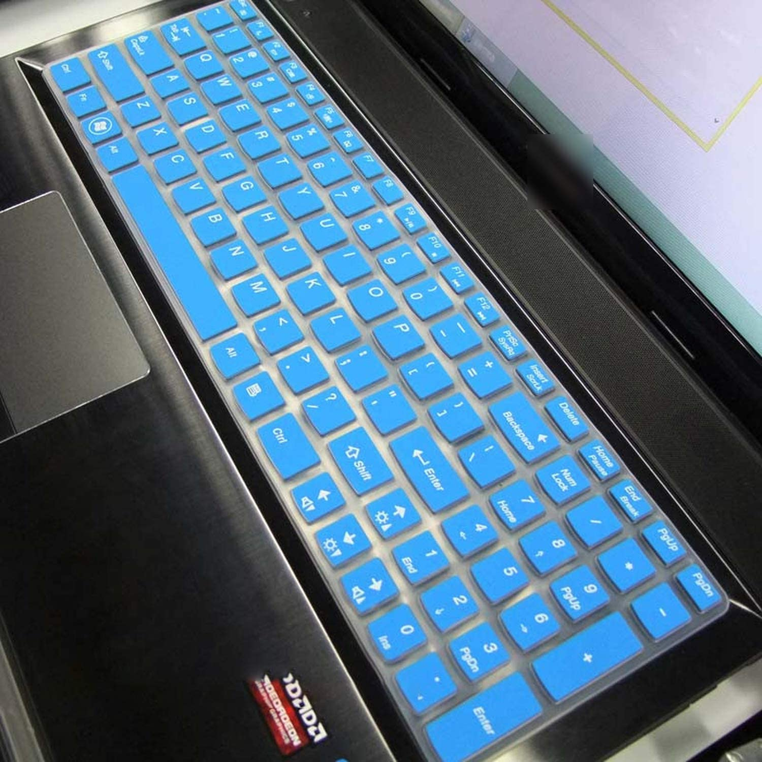 Silicone Keyboard Protector Cover Skin for Lenovo Ideapad Z580 Z560 Z565 Z570 Z575 Z500 Z501 Z505 Z510 Z585 V580 V570 U510 S500-Gradualblue