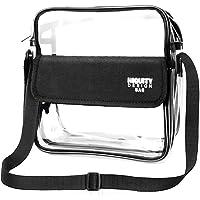 Clear Crossbody NFL, NCAA, BTS, PGA Stadium Approved Shoulder Bag Waterproof Transparent Purse with Adjustable Shoulder…