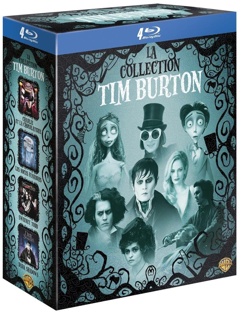 Amazon.com: La Collection Tim Burton - Charlie et la chocolaterie + Les noces funèbres + Sweeney Todd + Dark Shadows [Blu-ray]: Movies & TV