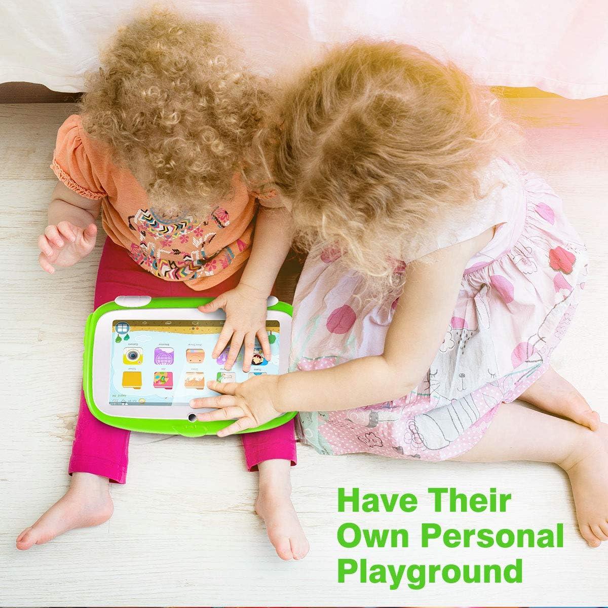 Tablette Enfants Excelvan 7 Pouces Tablette Android 9.0 Pie Adorable Coque de Protection 1Go RAM 16Go ROM Bleu iWaWa /& Google Play Pr/é-Install/é pour Les Enfants /Éducation Divertissement