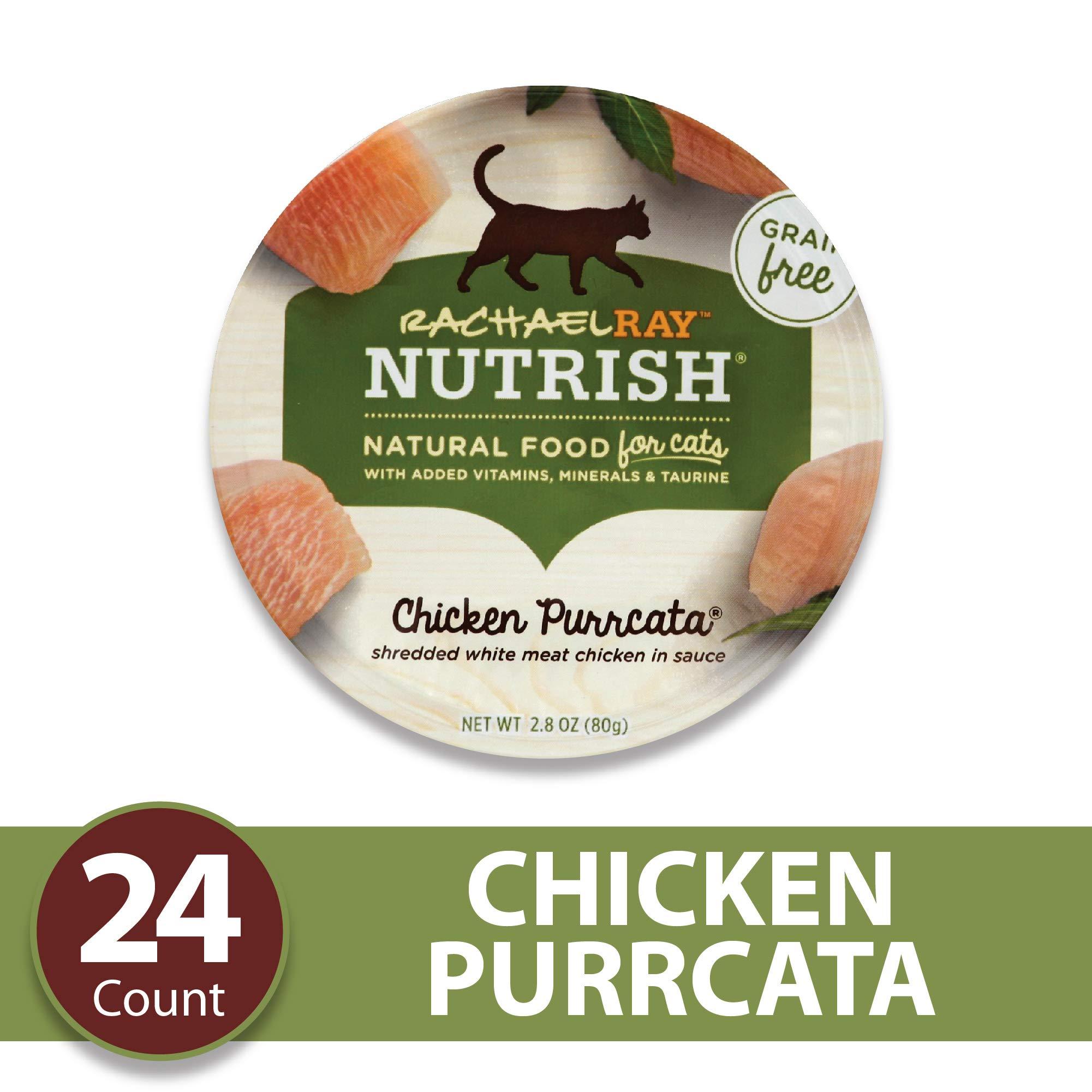 Rachael Ray Nutrish Natural Premium Wet Cat Food, Chicken Purrcata, Grain Free, 2.8 Oz. Tub (Pack Of 24) by Rachael Ray Nutrish