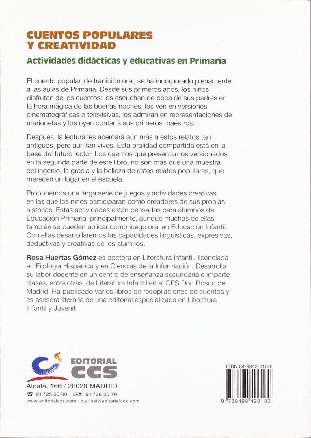 Cuentos Populares Y Creatividad: Rosa Huertas: 9788498420180: Amazon.com: Books