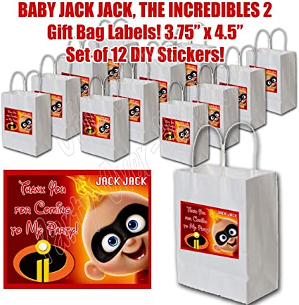 "/""THE INCREDIBLES 2/"" 1x Pack of 10 THANK YOU CARDS Kids Children birthday"