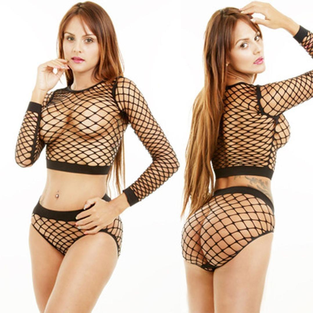 Lencería sexy Erotica Koly Women Interior Sexy Atrevida Transparente Bodies Ropa de dormir 1 conjunto ropa interior de encaje lencería sexy para mujeres ...