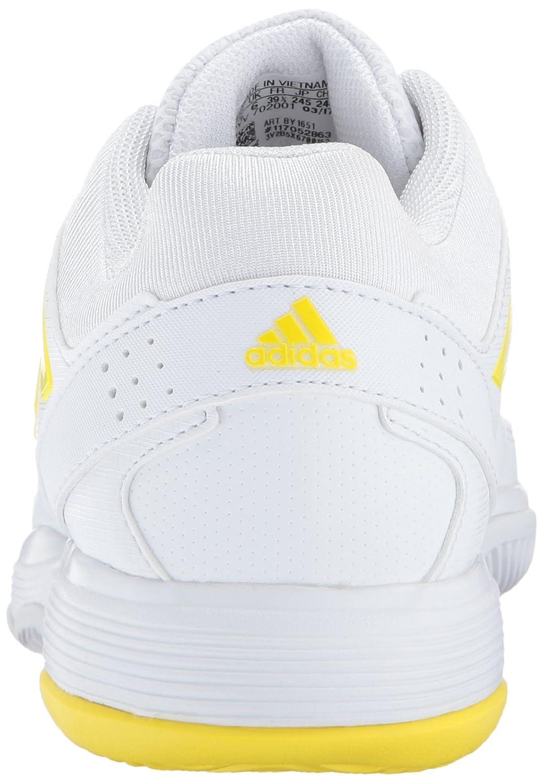 adidas Women's Barricade Court Tennis Shoes B01MXXY2QT 7 M US|White/Lemon Peel/White
