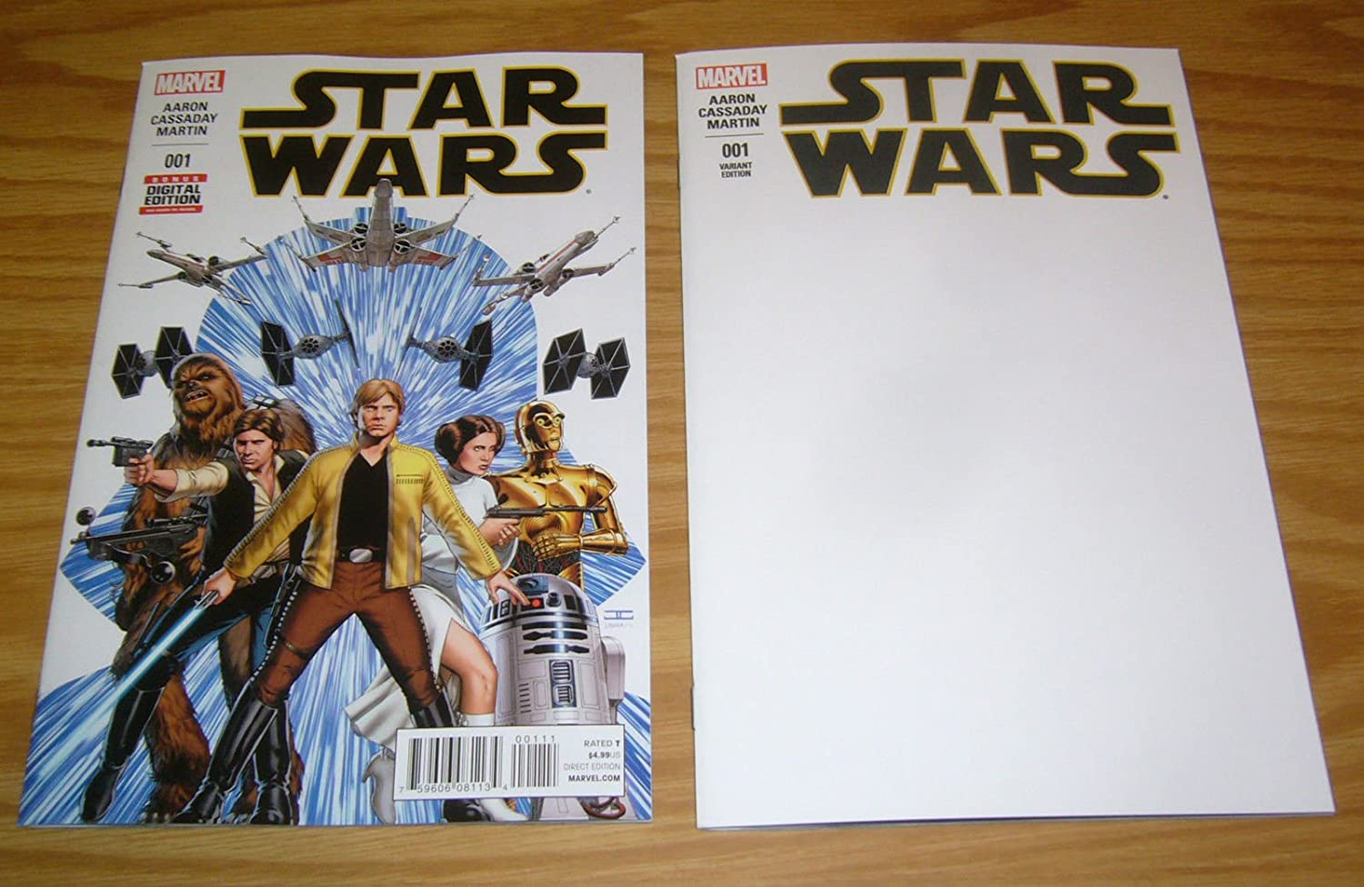Star Wars (2015) #1 + blank cover variant VF/NM; Marvel premiere issue