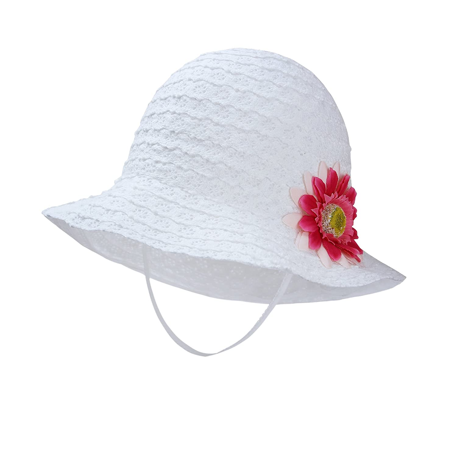 Vivo-biniya HAT ベビーガールズ B07B4R5MHT 52cm(Head circumference 20.4in)|White(flower) White(flower) 52cm(Head circumference 20.4in)
