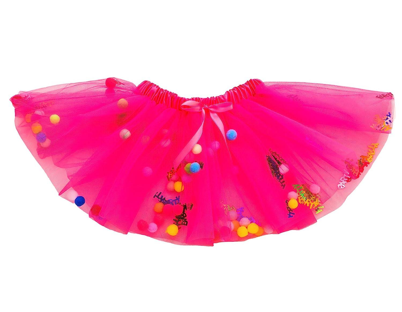 WGOODTECK Baby Girls Dress-Up Princess Fairy Tutu Skirt Dark Pink)