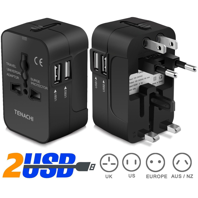 Amazon.com: Universal Plug Adapter TENACHI Worldwide Travel Plug ...