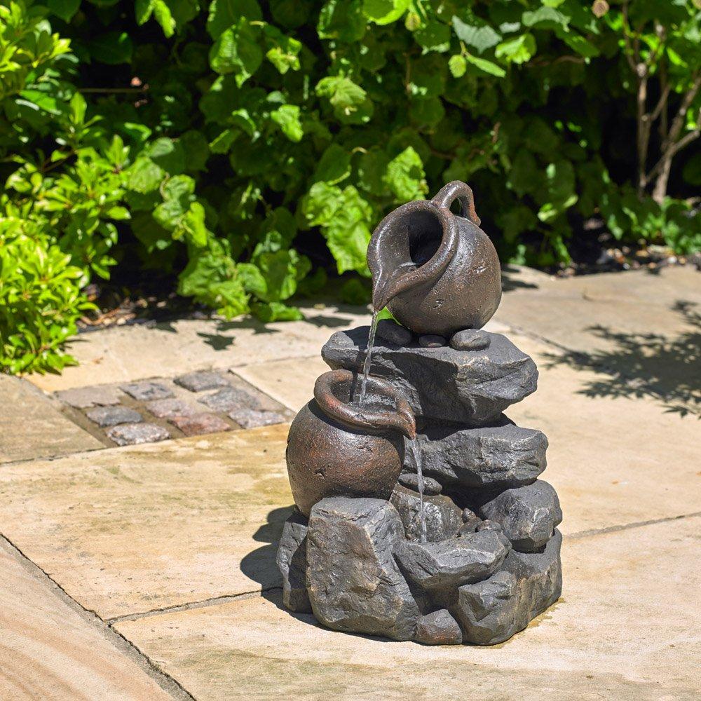 Kingfisher 2 Tier 2 Jug Rock Garden Water Feature King Fisher WF100