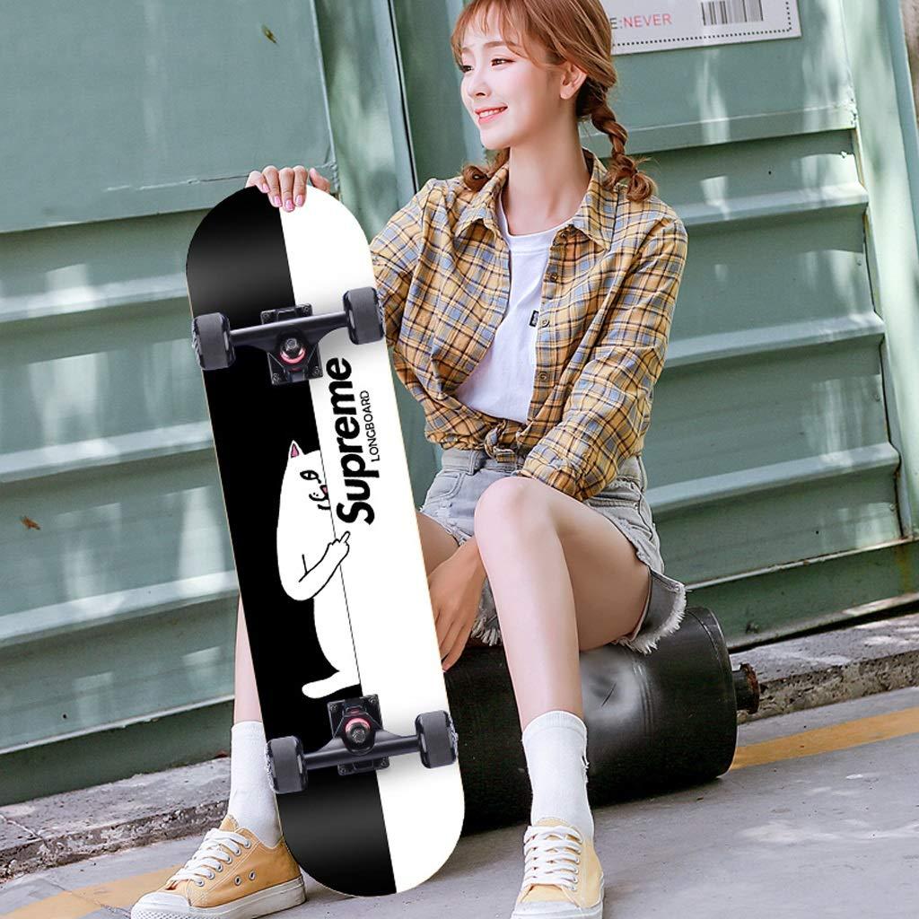 100 %品質保証 DUWEN スケートボードメープルボード大人男の子と女の子ダブルロッカースケートボード初心者ティーンプロ4輪スクーター(フラッシュホイール付き) (色 : B) B07PN7WVJH A : (色 B) A, 建材と住設のShop SZ:48fbba1c --- quiltersinfo.yarnslave.com