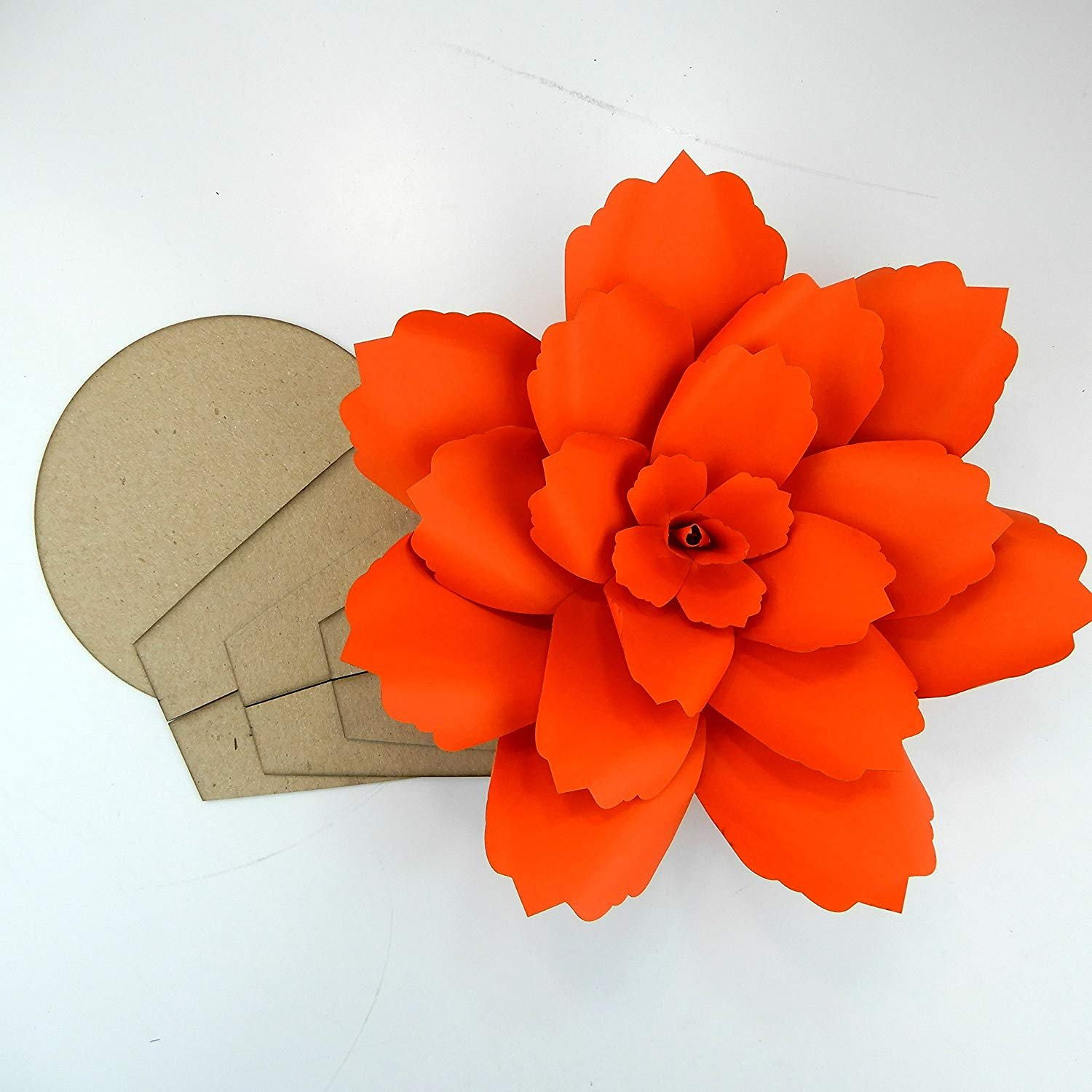 Paper Flower Template Kit Pattern DIY Make Your own Flower Backdrop Photo Booth Flower Decoration Card Stock Blossom